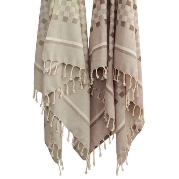 Authentic Pestemal Fouta Checkerboard Weave Turkish Cotton Bath/ Beach Towel