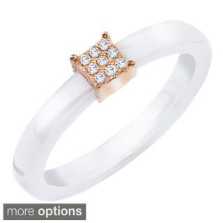 Ceramic Diamond Accent Ring