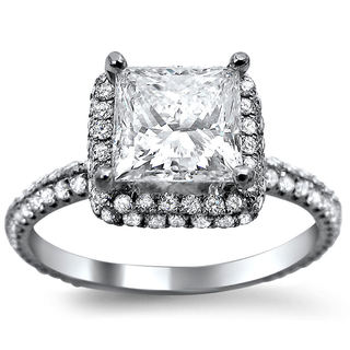 18k White Gold 1 3/5ct TDW Princess-cut Diamond Engagement Ring (G-H, SI1-SI2)