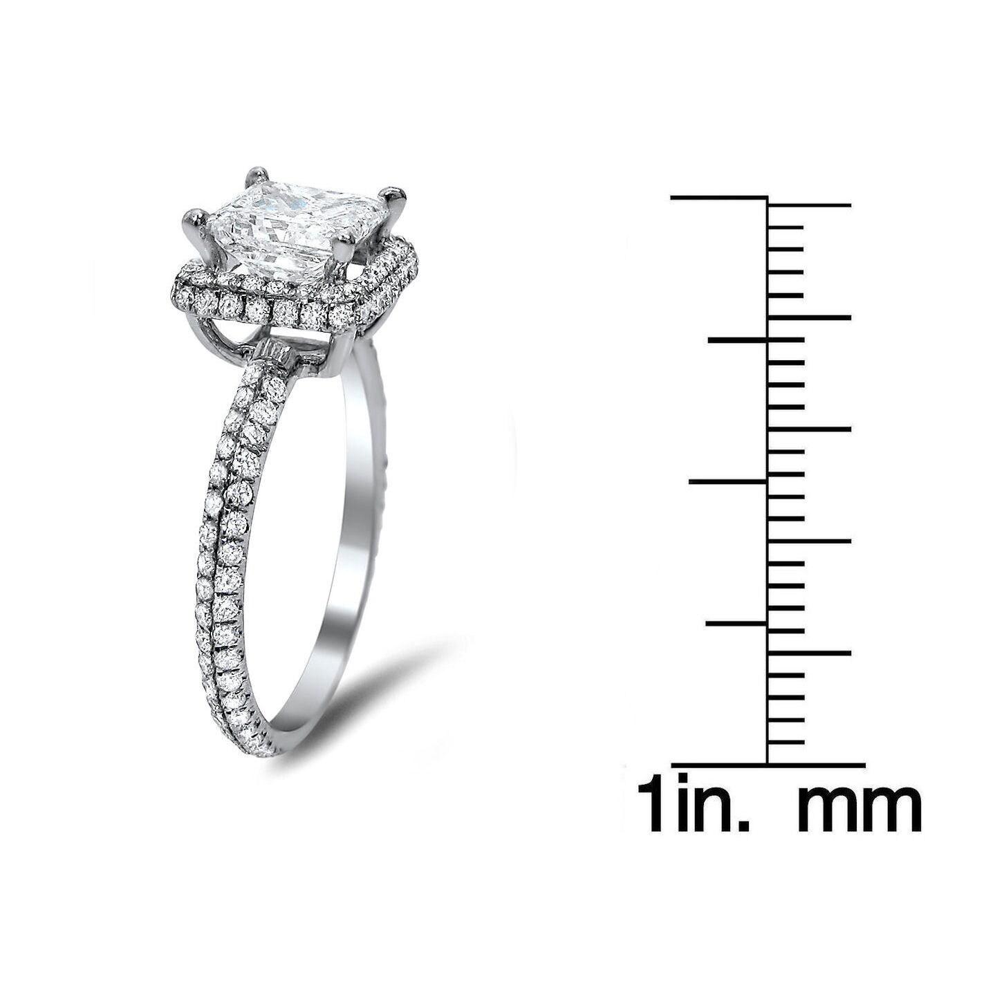 Noori Collection Noori 18k White Gold 1 3/5ct TDW Princess-cut Diamond Engagement Ring (G-H SI1-SI2)