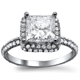 18k White Gold 1 3/5ct TDW Diamond Solitaire Engagement Ring (G-H, SI1-SI2)