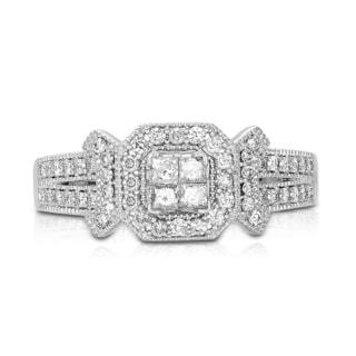 Eloquence 10k White Gold 1/2ct TDW Diamond Engagement Ring (H-I, I1-I2)