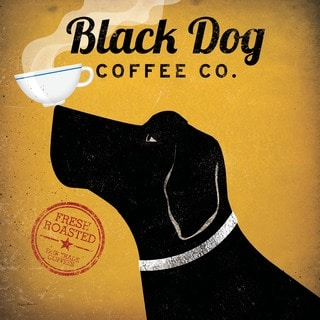 Ryan Fowler 'Black Dog Coffee Co.' Gallery Wrapped Canvas