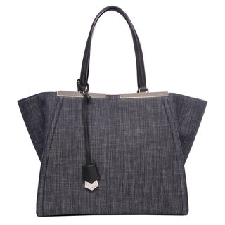 Fendi 3Jours Denim Shopper Bag