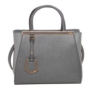 Fendi Petite 2Jours Leather Shopper Handbag