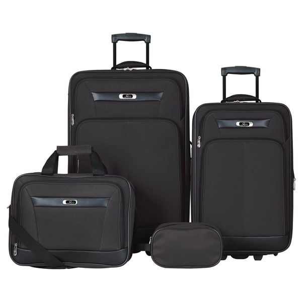 Skyway Luggage Desoto 2.0 Black 4-piece Travel Luggage Set 12852960