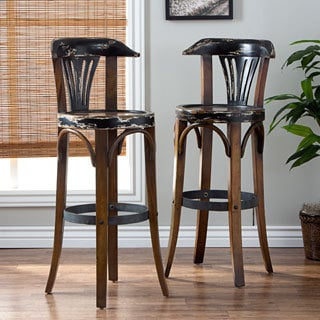 Set of 2 West Bar Stools (Indonesia)