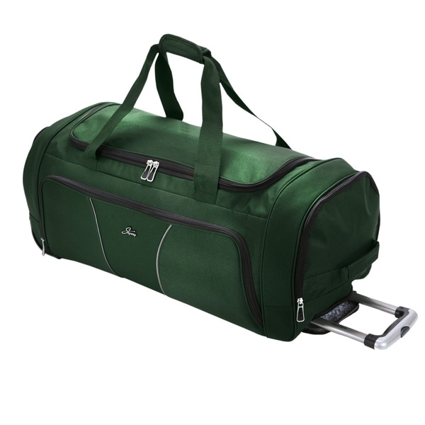 Skyway Luggage Sigma Midnight Green 30-inch 2-wheel Rolling Upright Duffel Bag