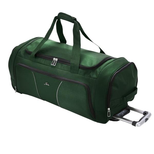 Skyway Luggage Sigma Midnight Green 30-inch 2-wheel Rolling Upright Duffel Bag
