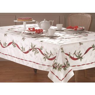 Lenox Laurel Wreath Cotton Blend Table Cloth