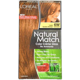 L'Oreal Paris Natural Match Light Golden Brown 6W Hair Color