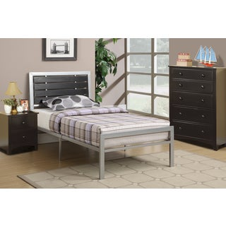 Contemporary Twin-size Silver Metal Platform Bed