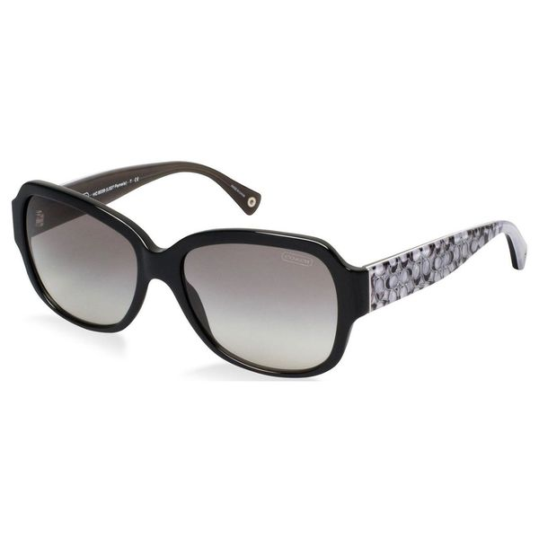Coach Women's 'Pamela' Black Oversized Sunglasses