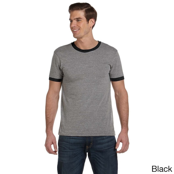 Men's Contrast Ringer Crew Neck T-shirt