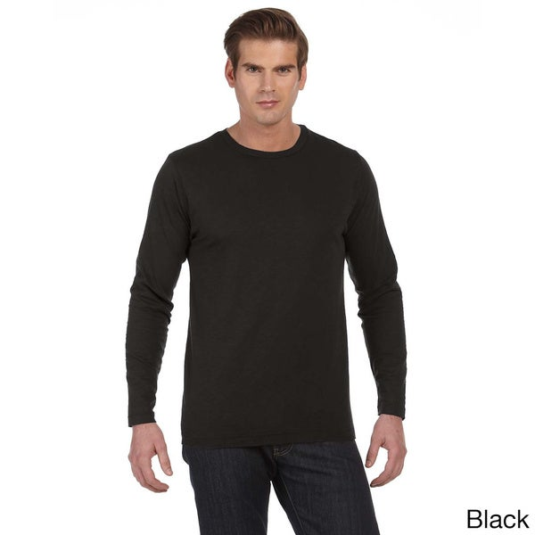 Men's 'Joey' Slub Long Sleeve Crew Neck T-shirt