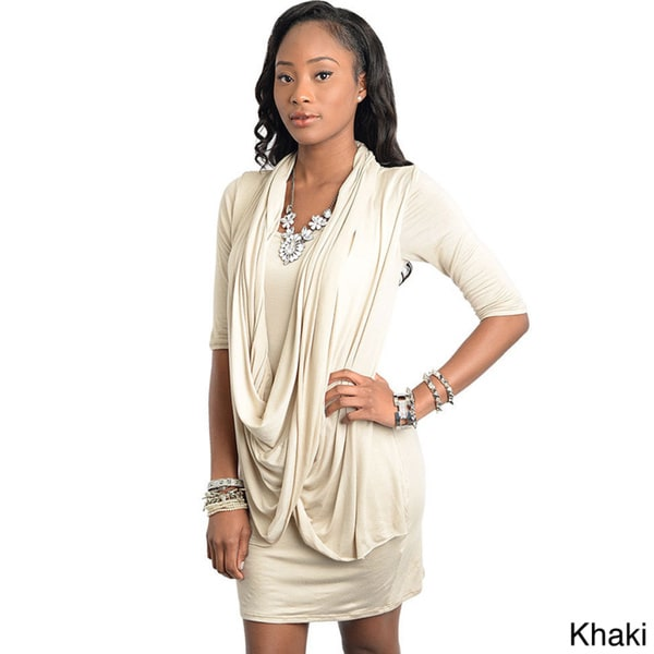 Stanzino Women's 3/4-sleeve Layer Effect Dress