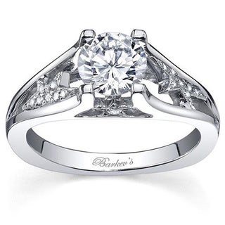Barkev's Designer 14k White Gold Diamond Engagement Ring (F-G, SI1-SI2)