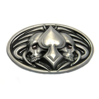 Skulls and Spade Belt Buckle