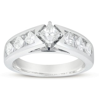 14k White Gold 1 1/2ct TDW Princess-cut Diamond Engagement Ring (H-I, I1-I2)