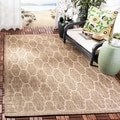 Safavieh Indoor/ Outdoor Moroccan Courtyard Black/ Beige Rug (8' x 11'2)