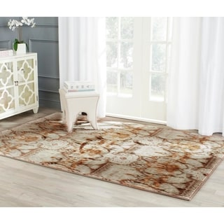 Safavieh Infinity Green/ Brown Polyester Rug (8' x 10')