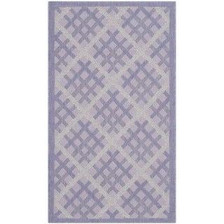 Safavieh Indoor/ Outdoor Courtyard Lilac/ Dark Lilac Rug (2'7 x 5')