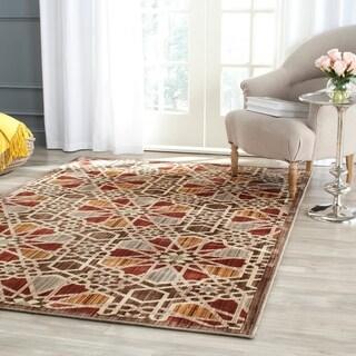 Safavieh Infinity Brown/ Beige Polyester Rug (9' x 12')