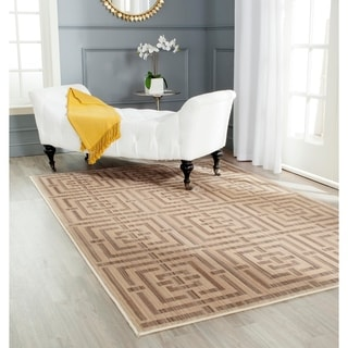 Safavieh Infinity Yellow/ Taupe Polyester Rug (9' x 12')
