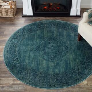 Safavieh Vintage Turquoise/ Multi Viscose Rug (6' Round)