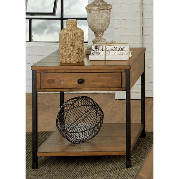 Liberty Rustic Bronze End Table 16194468 Overstock Com