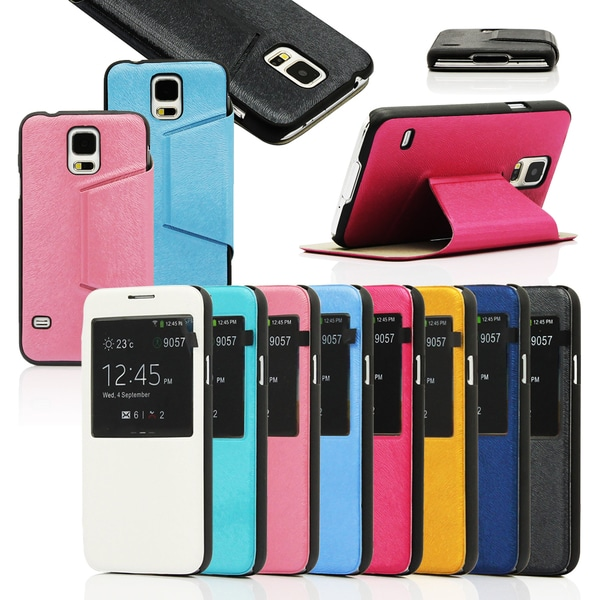Gearonic View Flip PU Leather Case for Samsung Galaxy S5 SV i9600