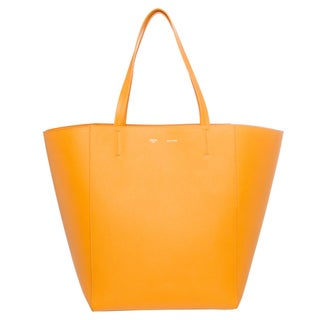Celine 171053TND 12SF Saffron Yellow Medium Textured Leather Tote
