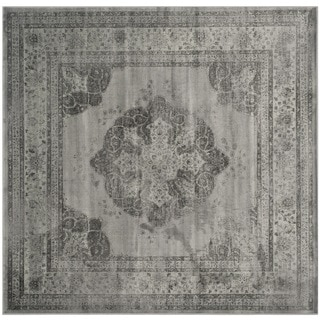 Safavieh Vintage Grey/ Multi Viscose Rug (6' Square)