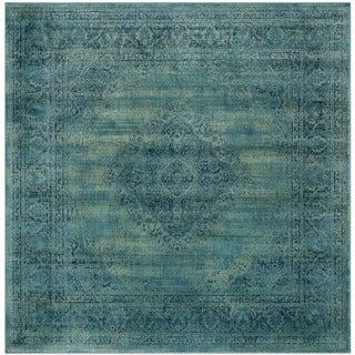 Safavieh Vintage Turquoise/ Multi Viscose Rug (6' Square)