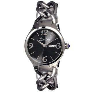 Bertha Women's 'Darla' Black/ Stainless Steel Analog Watch