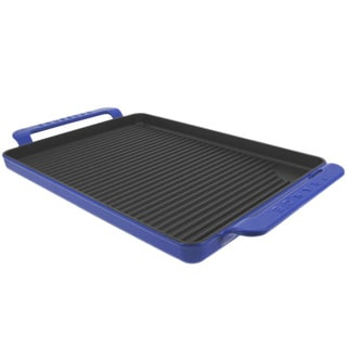 Chasseur Rectangular French Blue Cast Iron Griddle