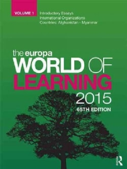 The Europa World of Learning 2015 (Hardcover)