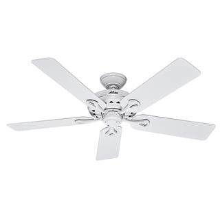 Hunter 52-inch Palermo Brushed Nickel Fan with Five Cherry/ Maple Blades