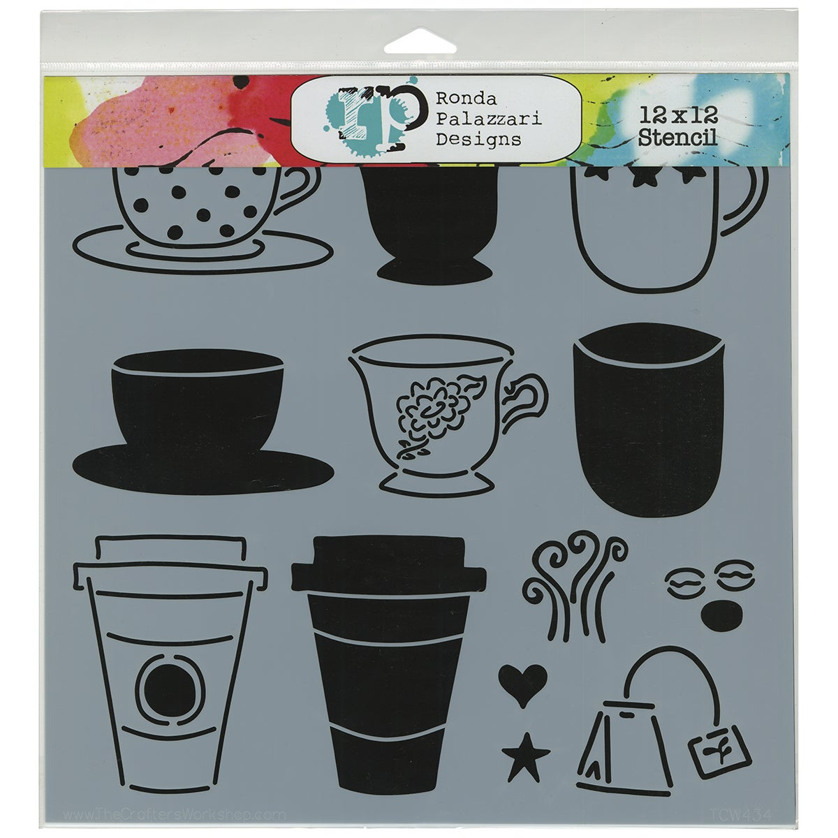 "Crafter's Workshop Template 12""X12""-Cafe Latte"