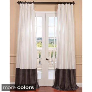 Banded Eggshell Taffeta Curtain Panel