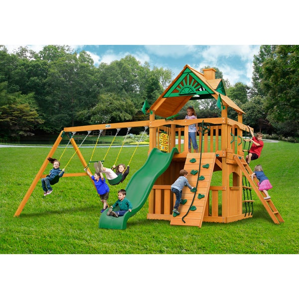 Gorilla Playsets Chateau II Clubhouse Cedar Swing Set 12859250
