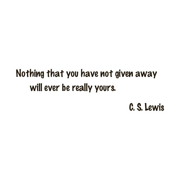 C. S. Lewis Quote Vinyl Wall Art