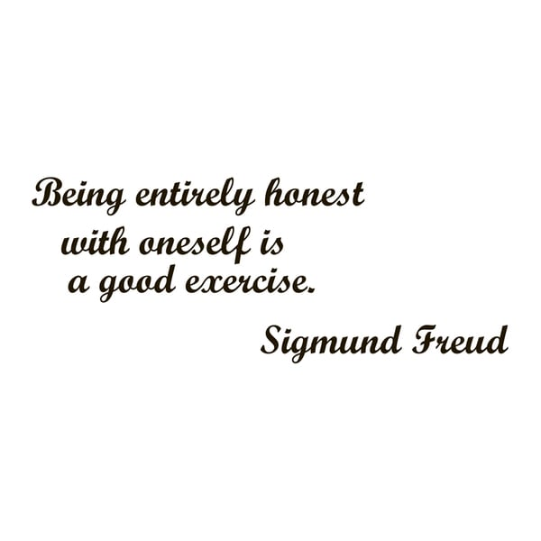 Sigmund Freud Quote Vinyl Wall Art