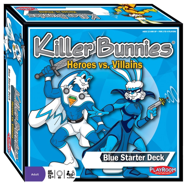 Killer Bunnies Heroes vs Villains Blue Starter Set