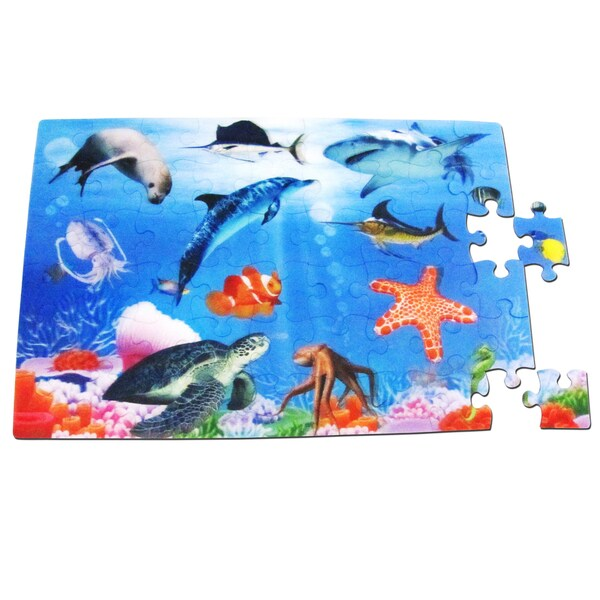Smart Play Real 3D Color Inside Tray Aquarium Puzzle