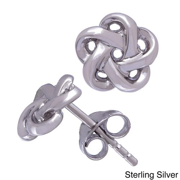 Gioelli Sterling Silver Mini Knot Stud Earrings