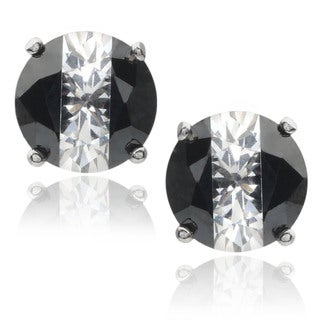 Journee Collection Sterling Silver Cubic Zirconia Round Stud Earrings