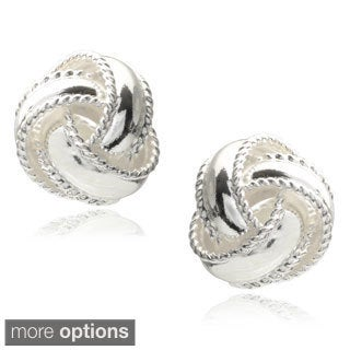 Tressa Collection Sterling Silver Knot Stud Earrings