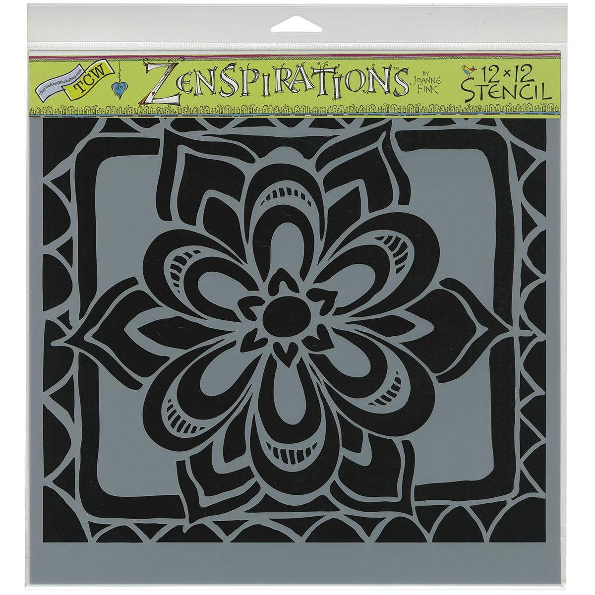 "Crafter's Workshop Template 12""X12""-Zen Flower"