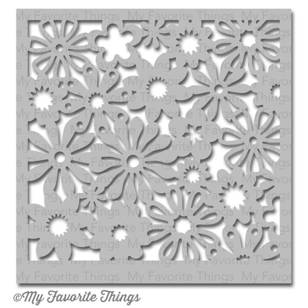 "My Favorite Things MIX-ables Stencil 6""x6""-Funky Florals"